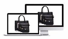 Black 4 peices Female Versatile Alligator PU Leather Handbag Set