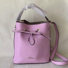 CLEARANCE! FURLA GLICINE PURPLE MEDIUM Costanza Medium Bucket Bag Grain Leather