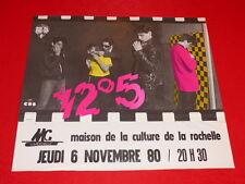 COLL.J. LE BOURHIS AFFICHES Musique Rock / 12°5 / 1980 La Rochelle Rare! 58x51