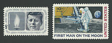 John F. Kennedy JFK Memorial Apollo 11 First Man On The Moon Landing Stamps MINT