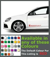 Peugeot Sport Premium Side body Decals/Stickers x 2