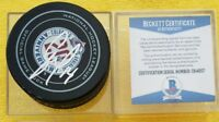 BECKETT COA BLAKE COMEAU Signed AVALANCHE 20th SEASON OFFICIAL GAME PUCK