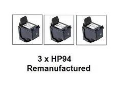 3 x  HP94 (C8765WN) ink cartridges for HP PSC1610, 2610,OJ6210,7210 printers