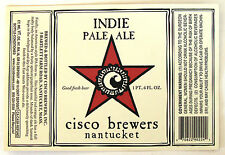 Cisco Brewers Inc INDIA PALE ALE beer label MA 22oz - STICKER
