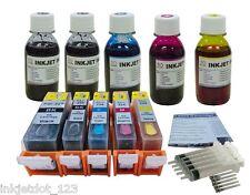 Refillable cartridges+5x4oz ink for Canon PGI-225 CLI-226 MX712 MX882 MX892