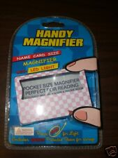 Handy Magnifier PINK Size of a Name Card N.I.P. led does not work