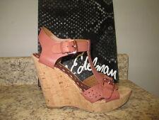 "Sam Edelman ""Karli"" Wedge Sandals Brown Leather Upper (mismate 8.5 / 9 ) NWB"