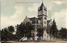 c1910 LAWRENCE Kansas Kans Ks Postcard DOUGLAS COUNTY COURT HOUSE K125