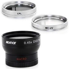 37mm Wide Angle Lens, CPL, MCUV Filters for Olympus PEN E-PL1 E-PL2 E-PL3 E-PM2