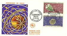 FIRST DAY COVER PREMIER JOUR / niger / telecommunications spatiales 1964AVION