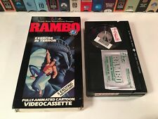 * Rambo: Exercise In Terror 80's Animation Betamax NOT VHS 1986 TV Series Beta