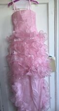 CINDERELLA PRINCES PINK PARTY WEDDING BRIDESMAID FRILL CANDY FLOSS DRESS NET 10Y