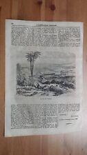 1873 Illustrazione Popolare: Veduta delle Rovine di Girgenti (Agrigento Templi)