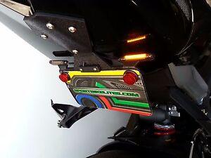 Triumph Daytona 675 Fender Eliminator Kit w/ LED Brake & Turn Signals; Smoked