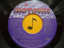 BRUCE WILLIS ~ Respect Yourself ~ 45's record ~ SOUL ~ 1986 ~ VG++