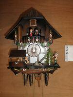 Cuckoo Clock German working NIGHT SHUT OFF SEE VIDEO musical chalet 1 Day CK2652