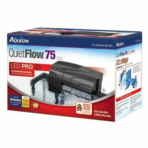 Aqueon Quiet Flow Aquarium Power Filters - 55/75 Filter for Tanks Up to 90 Gal.