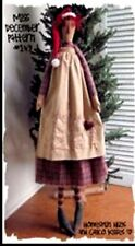 """Primitive pattern Miss December a 39"""" tall skinny Christmas Annie To Make! #HHck"""