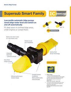 Whale 12 Volt Low Profile SMART Supersub 650 SS5212 GPH Bilge Pump c/w nrv