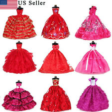 9PCS Doll Long Dresses Handmade Princess Gowns Party Dress for all 12 inch Dolls