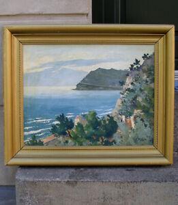Franz List ( German, 1898)  Coastal landscape. French Riviera. 1940s.