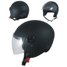 Open Face Helmet Lid Motorbike Jet Scooter Quad Visor A-pro Matte Black XL