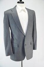 Daks London Gray Glenplaid Blue Stripe Wool 2 Button Sport Coat Blazer 41L