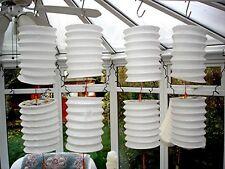 10 m Blanc crème Chinois Papier Lanterne Mariage Anniversaire Bébé Fête De Jardin Deco