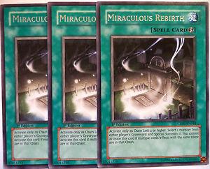 X3 YUGIOH MIRACULOUS REBIRTH CDIP-EN044 1st EDITION RARES