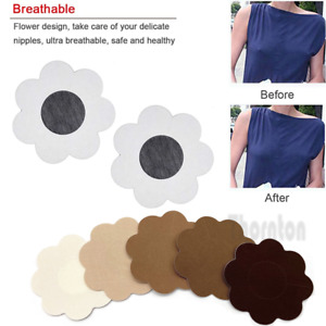 10x Disposable Breast Nipple Cover Pairs Adhesive Pasties Satin Self Stickers UK