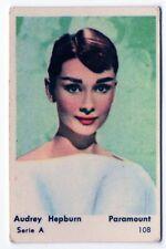 1950s Swedish Film Star Card  Serie A #108 My Fair Lady actress Audrey Hepburn