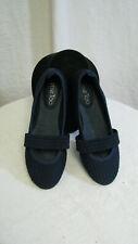 Women's MeToo Mary Jane fabric Navy narrow shoes 6.5