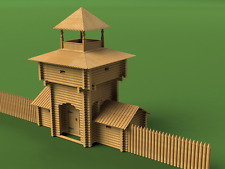 GATE TOWER, 1:60 Scale, Construction kit