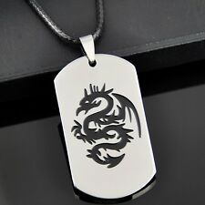 Cool dragon stainless steel pendant necklace