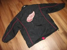 HEAVY DETROIT RED WINGS NHL WINTER COAT EMBROIDERED LOGOS GREAT SHAPE MENS XL