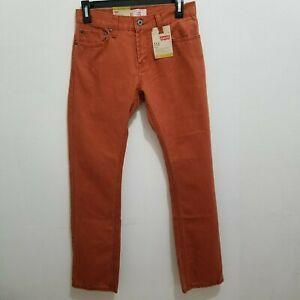 Original LEVI'S 511 Boys Burnt Henna Red Slim Jeans (Size 14) Pants Size 27x27