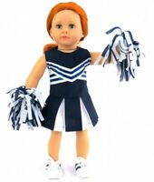 "Doll Clothes Fit AG 18"" Navy White Cheerleader Outfit Fits American Girl Dolls"
