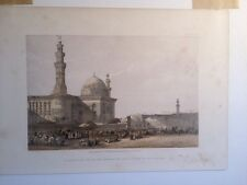 David Roberts Cairo Egypt Mosque Madrassa Sultan Hassan 1856 Art Print Plate 250