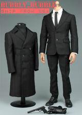 1/6 James Bond 007 Agent Suit Overcoat Set For Hot Toys TBLeague Male Figure USA