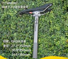 1x Titanium alloy Bicycle Bike Mountain Seatpost Seat Post27.2/30.9/31.6 x 350mm