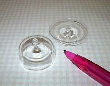 Miniature Large Covered Clear Glass Pedestal Cake Plate Stand: DOLLHOUSE 1/12