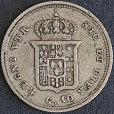 Two Sicilies, Ferdinand II, 10 Grana, 1836, Silver, Very Fine Details