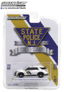 Greenlight 1/64th scale New Jersey State Police 2021 Ford PI Utility