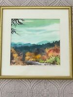 George Turner Watercolor Landscape Framed Matted & Signed Painting