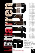 Gitarrengriffe für Anfänger und Fortgeschrittene + 1 Sharkfin Plec weiss