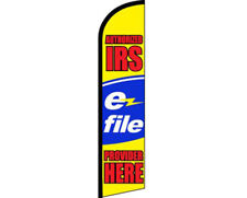 Authorized IRS E-File Provider Here Windless Banner Advertising Marketing Flag