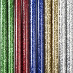 Hot melt GLITTER glue sticks 7mm - 7.2mm X 150mm, Pack Of 10 sticks.