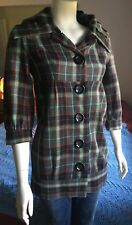Kensie Girl Plaid Jacket Us SZ Small, Button Down//Red, Teal, Grey, Black -Youth