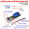 DC 5V 12V 24V Infinite Cycle Delay Timing Timer Relay Switch ON OFF Loop Module