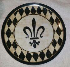 """Fluer de Lis Decorative Plate """"10�"""